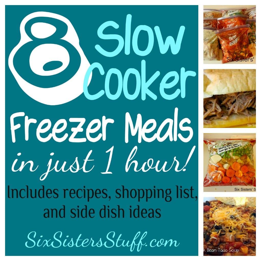 8 slow cooker freezer meals